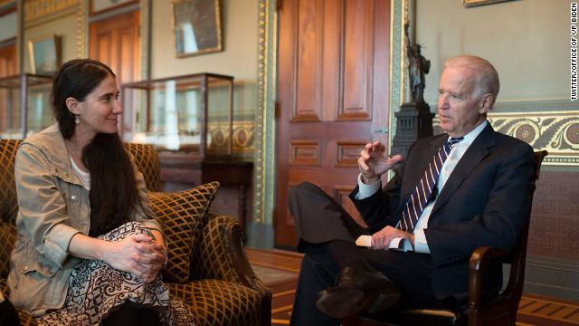 La disidente cubana Yoani Sánchez se reúne con el vicepresidente de EE.UU., Joe Biden