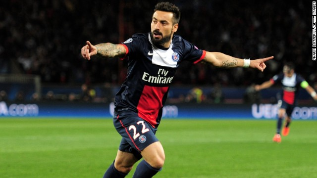 In the other Champions League quarterfinal, Paris Saint-Germain beat Chelsea 3-1 in Paris. Ezequiel Lavezzi gave the home team an early third-minute lead.