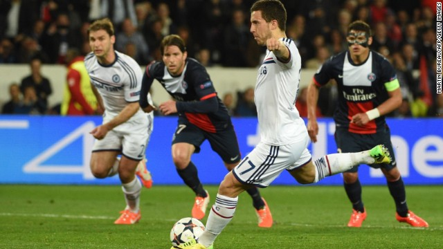 But after Oscar won a contentious penalty, Eden Hazard leveled in the 27th minute.