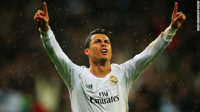 Cristiano Ronaldo made history when he completed the scoring in the second half.