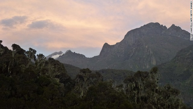 The Rwenzori glaciers occur on just three of the range's peaks: Mounts Stanley, Speke and Baker. The area of the glaciers is believed to have shrunk from around 2.7 square miles in 1906 to less than 0.4 square miles today.