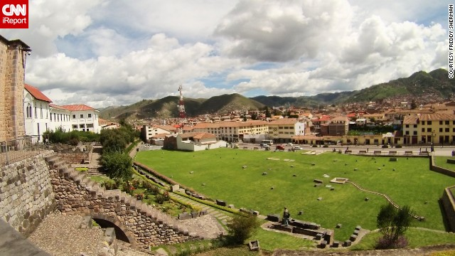"From the Convent of Santo Domingo, the view of the Inca ruins of the Qorikancha Temple against the rolling hills of Cusco, Peru, is simply breathtaking. ""Although filled with tourists of all types, it retains a special spirituality and still remains somehow Incan,"" <a href='http://ireport.cnn.com/docs/DOC-1098130'>Frederick Sherman</a> said."