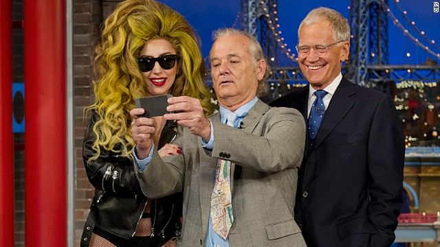 Lady Gaga and Bill Murray meet on 'Letterman'