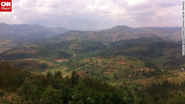 "Rwanda is nicknamed the Land of a Thousands Hills for its countryside dotted with mountains, volcanoes and hillocks. ""There are some <a href='http://ireport.cnn.com/docs/DOC-1115370'>places that touch you</a> and touch you quickly. Rwanda was one of those places,"" says aid worker LeAnn Hager, who lived there between 2012 and 2014."