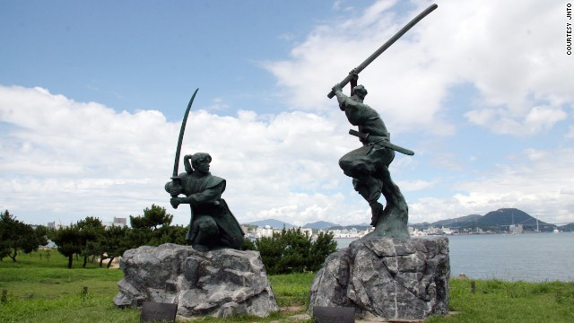 There's more to Shimonoseki than puffer fish. Off the coast of the port city lies Ganryujima, a tiny island famed for being the site of an epic duel between sword legends Miyamoto Musashi and Sasaki Kojirō. Visitors reach the island by catching a ferry at the Shimonoseki Harbor.