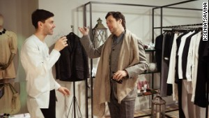 Designer Leonid Alexeev (left) is one of St. Petersburg\'s fashion gurus.