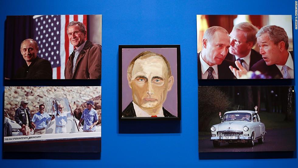 Las pinturas del expresidente George W. Bush