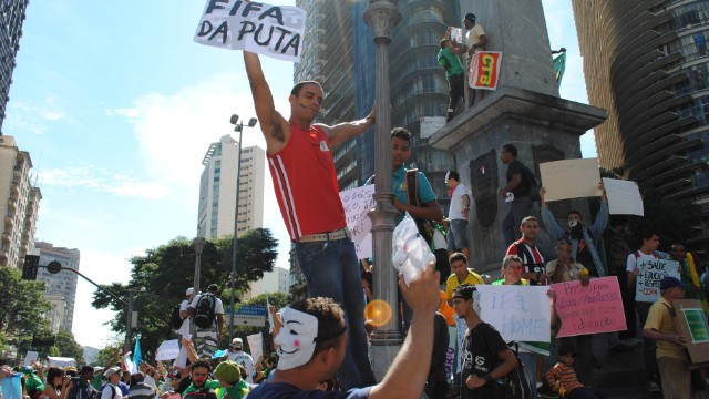 But away from the action, hundreds of thousands took to the streets during last year's Confederations Cup to protest against the World Cup or in favour of more social spending.