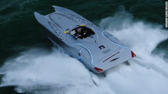 It's not Gargiulo's first supercar yacht -- in 2007 he commissioned this Mercedes Benz-style boat, also created by Marine Technology Inc.