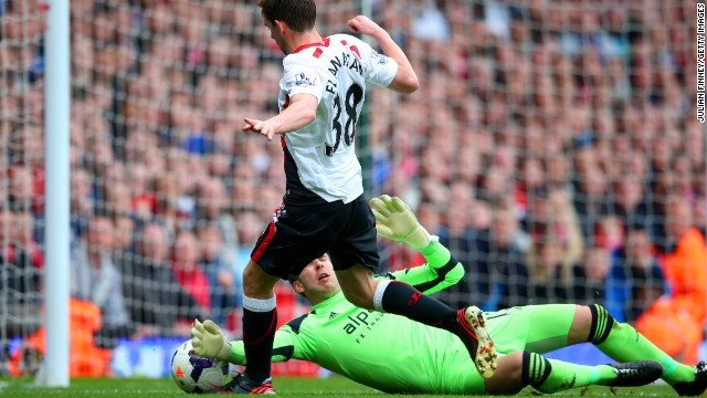 The second was more controversial -- Liverpool defender Jon Flanagan was brought down by Adrian in the second half, though the West Ham goalkeeper appeared to make contact with the ball first.