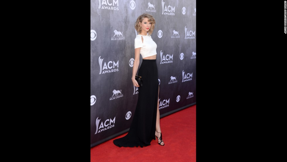 Taylor Swift attends the 49th Annual Academy of Country Music Awards at the MGM Grand Garden Arena on Sunday, April 6, 2014, in Las Vegas. See the other stars that graced the red carpet as they arrived for the show: