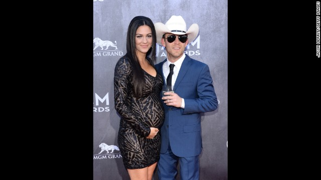Justin Moore and wife, Kate