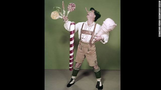 Rooney dressed as Pinocchio for a 1957 television movie.