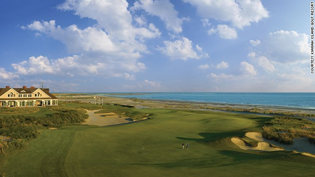 Even at a shortened length, the Ocean Course at Kiawah Island Golf Resort in South Carolina is a tough challenge. Whichever tees you choose, a round here is a heavenly experience.
