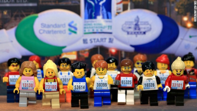 Hong Kong's annual Standard Chartered Marathon -- if it were run by Lego people. Our money's on racer 53614.