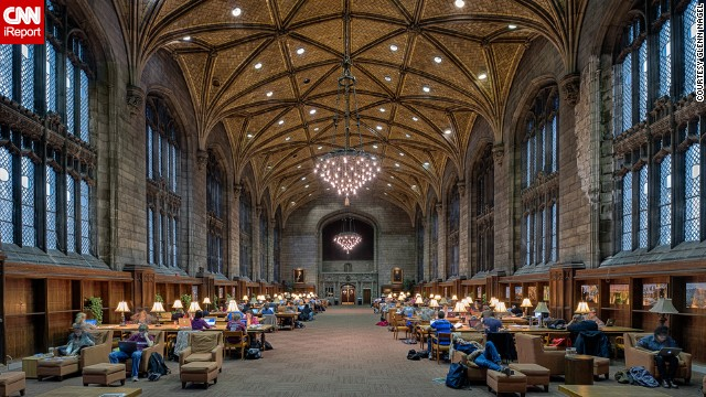 <a href='http://architecture.uchicago.edu/locations/william_rainey_harper_memorial_library/' target='_blank'>William Rainey Harper Memorial Library</a> at the University of Chicago was turned into a 24-hour study space and cafe back in December 2009, which increased its popularity as a spot to cram for exams.