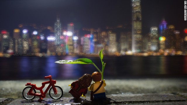 "Tse says of all his 30 Lego-themed works, ""Under Cover"" was the most memorable to create. ""As I took the shot at Tsim Sha Tsui promenade, I set the scene and my camera on the floor and hunched over the ground, thus I attracted a lot of attention,"" he recalls."