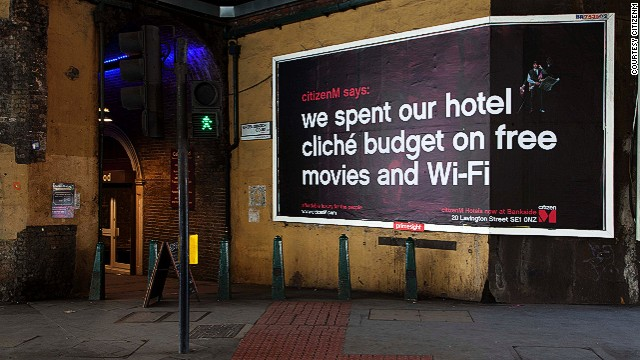In order to appeal to today's travelers, it's imperative to have high-speed wi-fi, and it better be free. Dutch brand CitizenM offers this, as well as artfully designed room (another important factor for globetrotting millennials) at a low price point.