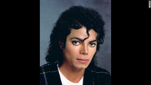 Michael Jackson sports the Jheri curl