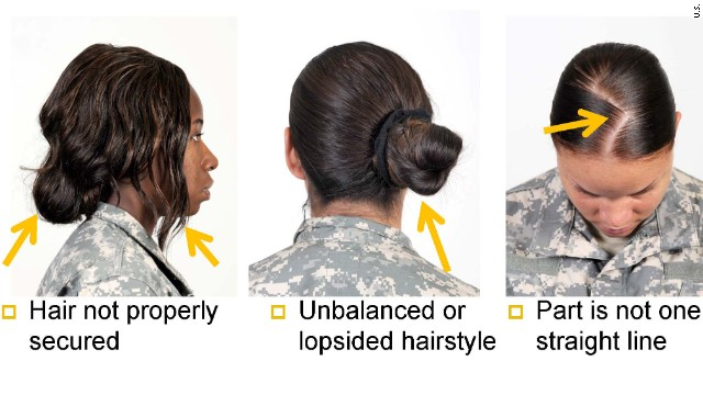 U.S. Army's new hairstyle rules