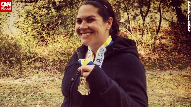 """Running has been a stress relief for me, but this year meant a little more,"" said Boston resident <a href='http://ireport.cnn.com/docs/DOC-1063131'>Gina Berrettoni</a>, who knew several people who were running last year's Boston Marathon. Thankfully, none of her friends were injured. She has run several races since the attack, including a 10K, a half-marathon and a relay."