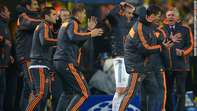 Real Madrid barely advanced in the other quarterfinal, 3-2 on aggregate