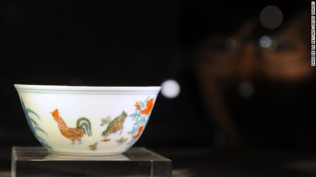 "The 15th Century ""Chicken Cup,"" perhaps the most sought-after Chinese porcelain, sold for $36 million at Sotheby's"