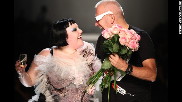 "Singer Beth Ditto, at the designer's ""Rock'n'Romantic"" collection."