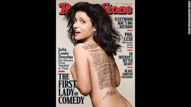 Julia Louis-Dreyfus gets naked for Rolling Stone