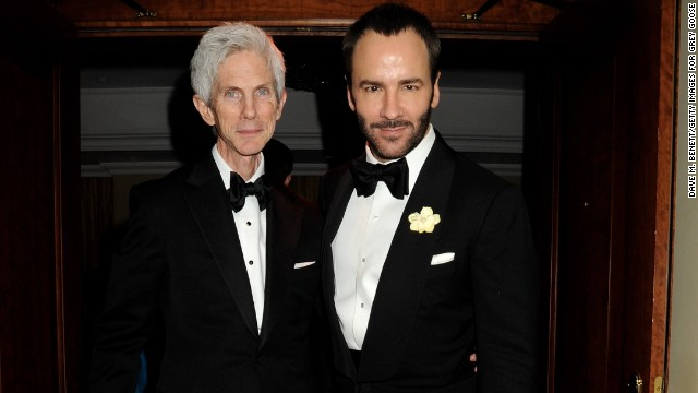 Fashion designer Tom Ford, right, and his partner of 27 years, Richard Buckley, are now married, the former Gucci craftsman confirmed to <a href='http://www.vogue.co.uk/news/2014/04/08/tom-ford-marries-richard-buckley' target='_blank'>Vogue UK.</a> He didn't give details on the nuptials except to acknowledge that they were held in the United States. The couple are parents to a 1-year-old, <a href='http://celebritybabies.people.com/2012/10/05/tom-ford-welcomes-son-alexander-john/' target='_blank'>Alexander John Buckley Ford</a>.