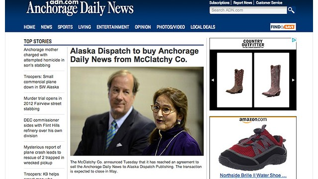 Alaska newspaper sold to online rival