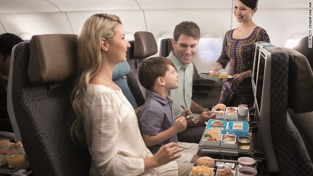 Now that's one happy looking family. They clearly remembered to pre-order the kids' meal prior to their flight.