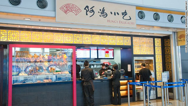 "Ah-Hung's original branch is a Michelin-starred shop in Hong Kong's North Point. For travelers leaving from Terminal 2 of Hong Kong International Airport, it's a last chance to try Hong Kong's traditional ""lou seoi"" cuisine."