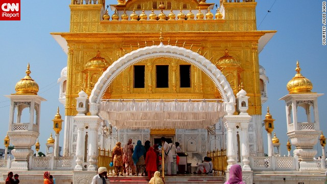 "While the Golden Temple (Gurdwara Hamandir Sahib) in Punjab, India, is the central worship place for Sikhs, <a href='http://ireport.cnn.com/docs/DOC-991302'>Julee Khoo</a> says the smaller Gurdwara Sri Tarn Taran Sahib was just as beautiful. ""You're immediately transported into a world of relative peace and tranquility."""