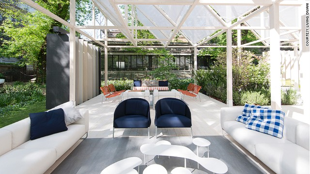 """The brand teamed up with<a href='http://internimagazine.com/' target='_blank'> Interni Magazine</a> to create<a href='http://fuorisalone2014.breradesigndistrict.it/evento/51/giardino-geometrico?lang=en' target='_blank'> """"Giardino Geometrico""""</a> installation in the Brera Botanical Garden in Milan, where furniture and nature meet in a tranquil setting."""