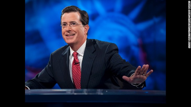 "Stephen <a href='http://www.cnn.com/2014/04/10/showbiz/stephen-colbert-david-letterman/index.html' target='_blank'>Colbert will take over ""The Late Show"" upon the retirement of David Letterman </a>in 2015. Colbert's rise includes a number of notable moments."