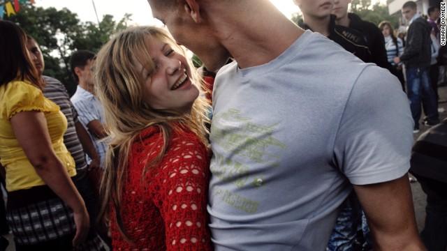 Young people dance in Tiraspol in 2009.