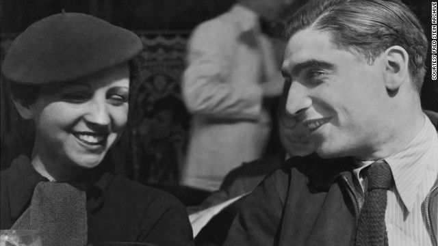 Gerda Taro and Robert Capa, in 1936. A year later Taro died while covering the Spanish Civil War -- she was the first female war photographer killed in action.