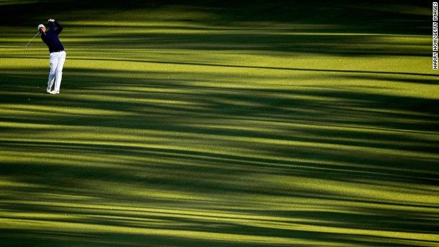 American Stewart Cink was in the first pair that teed off early Thursday morning at Augusta.
