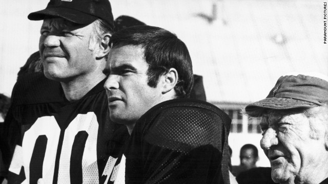 """The Longest Yard"" (1974): The original, with Michael Conrad and Burt Reynolds as the convict quarterback."