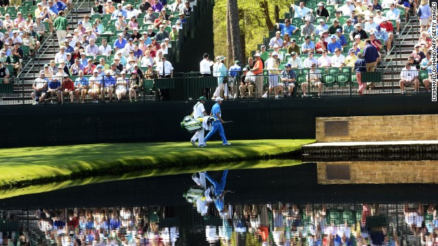 That's Sweden's Jonas Blixt close to the fans and pond. He shot an impressive 2-under 70.