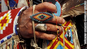 Native American beadwork in Montana.