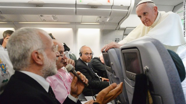 "During an impromptu news conference on July 29, aboard a plane from Brazil to Rome, the Pope said about gay priests, ""Who am I to judge?"" Many saw the move as the opening of a more tolerant era in the Catholic Church."