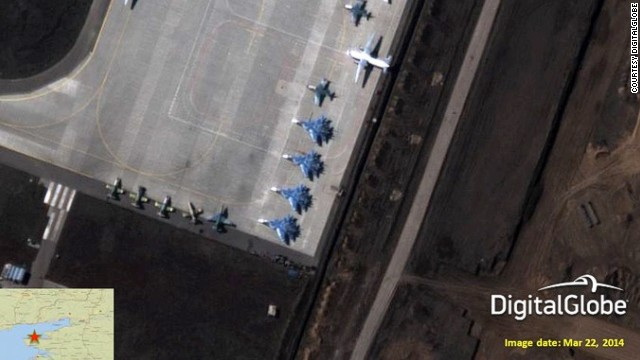 A satellite photo purportedly shows Russian Su-33