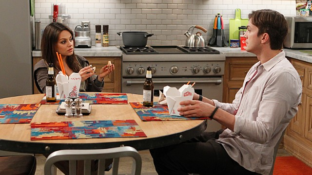See Mila Kunis guest star with Ashton Kutcher on 'Two and a Half Men'