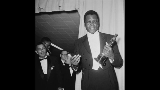 "Fifty years ago Sunday, Sidney Poitier became the first black performer to win an Academy Award for best actor. Poitier, who won the Oscar for his performance in ""Lilies of the Field,"" was one of the biggest box-office stars of the 1960s, and he remains a Hollywood legend at age 87. Here's a look back at his film career."