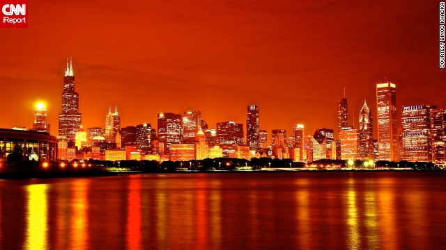 Binod Khadka called Chicago his home for five years and the top thing he misses is the diversity and variety of the <a href='http://ireport.cnn.com/docs/DOC-1114784'>city's architecture</a>. This bright image was captured with a long shutter speed.