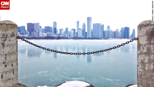 Kweku Bentum captured this icy sight from Adler Planetarium in January 2014.