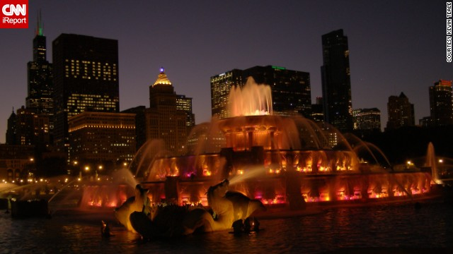 """A warm summer night with a love in hand, watching <a href='http://ireport.cnn.com/docs/DOC-1099288'>Buckingham Fountain</a> light up the sky cannot be matched,"" says Kevin Teale."