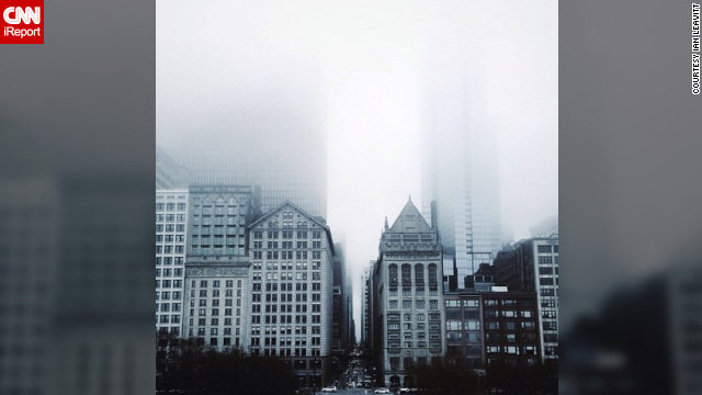 Ian Leavitt remembers his <a href='http://ireport.cnn.com/docs/DOC-1109498'>foggy stroll</a> along the Nichols Bridgeway, which begins at Millennium Park, crosses over Monroe Street and connects to the Art Institute of Chicago.